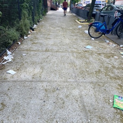 Trash near 18 East 118th Street, New York