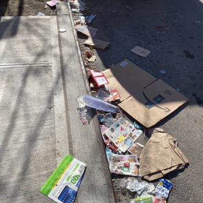 Trash near 180 East 118th Street, New York