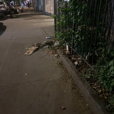 Trash near El Gallo Social Club Inc., East 118th Street, East Harlem, Manhattan Community Board 11, Manhattan, New York County, New York, 10035, United States