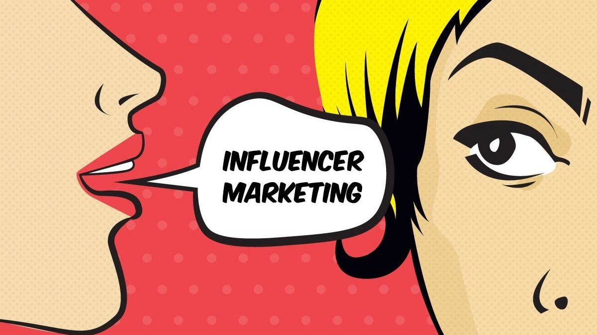 Pop art image with the words Influencer Marketing on it