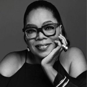Image of Oprah Winfrey in grey scale