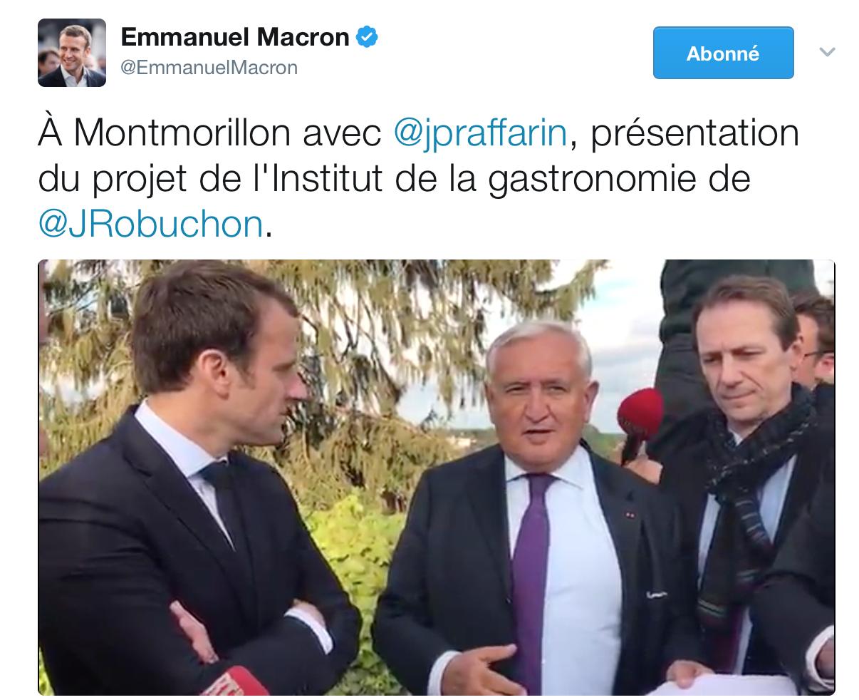 Emmanuel Marcon et Jean-Pierre Raffarin