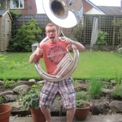 David Lawrence Tuba Player in Ely
