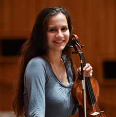 Maria Gilicel Violinist in the UK