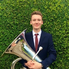 Harry Beach Tuba Player in South Yorkshire