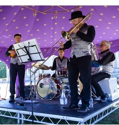 OJ and his Rag Tag Swing and Gypsy Jazz Orchestra Jazz Band in the UK