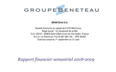 190430 BENETEAU Rapport Financier Semestriel 2018-2019