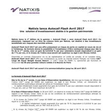 Natixis lance Autocall Flash Avril 2017