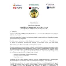 US$ 300 Million medium term receivable-backed sustainability linked trade finance facility