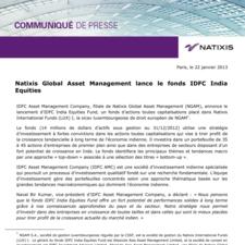 Natixis Global Asset Management lance le fonds IDFC India Equities