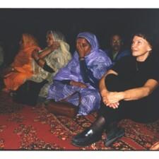 Danielle Mitterand  à Dahkla, Sahara occidental
