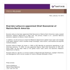 Evariste Lefeuvre appointed Chief Economist of Natixis North America