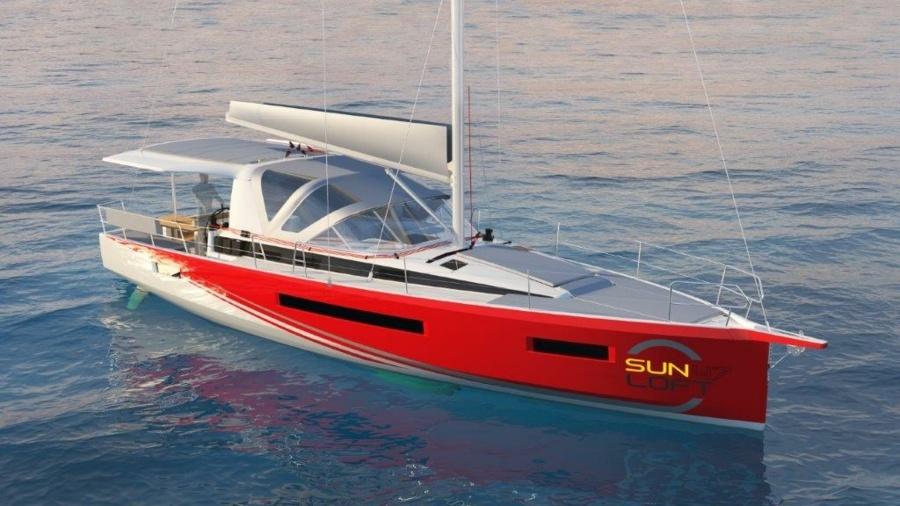 SUN LOFT 47, a monocat designed to charter by berth