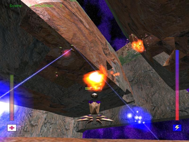Avoyd 1999 v1.5 screenshot Cube world explosion LAN multiplayer
