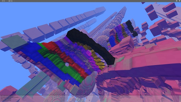 Avoyd screenshot - different materials in various colours