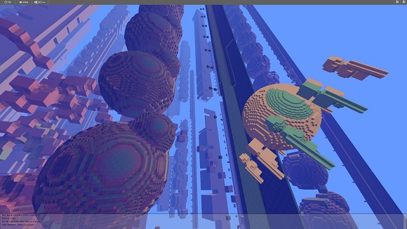 Avoyd screenshot - voxel world inside a voxel world