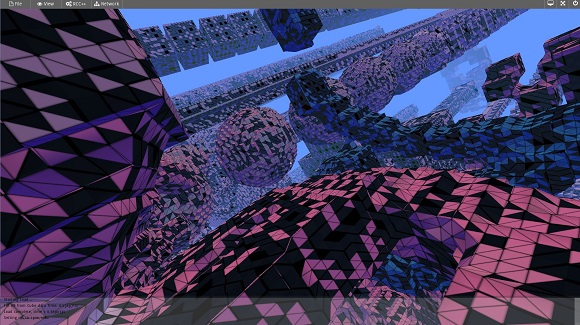 Avoyd - debug: broken gl_VertexID to barycentric coordinates for triangle outlining - black triangles bug