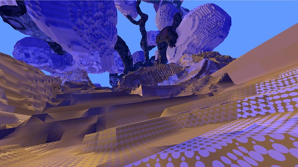 Avoyd voxel game prototype screenshot