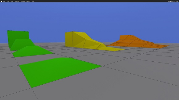Avoyd screenshot showing the current iteration of constrained morphing voxels.