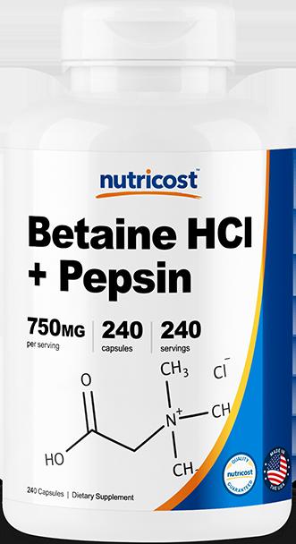 Betaine HCl + Pepsin-240 Caps