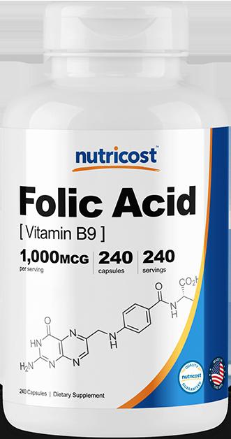 Folic Acid (Vitamin B9)-240 capsules