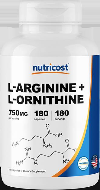 L-Arginine + L-Ornithine-180 capsules