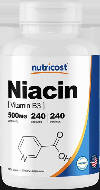 Niacin (Vitamin B3)-240 capsules