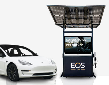Eos electric vehicle charging kiosk