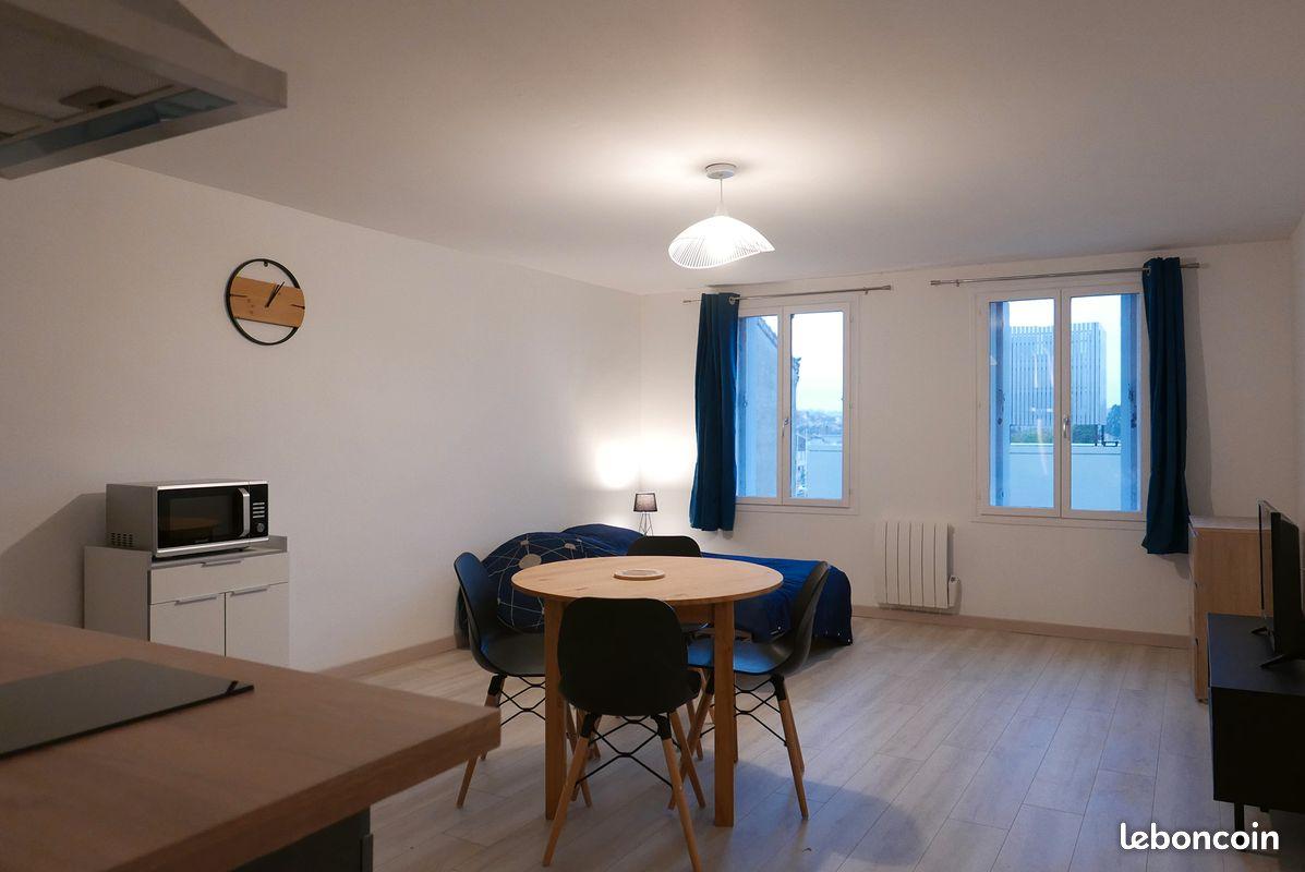 T1 meublé 28m² - toutes charges comprises - à proximité du centre de Ruelle