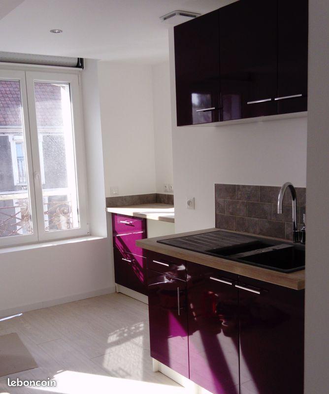 Appartement 80m², 2 chambres, baignoire