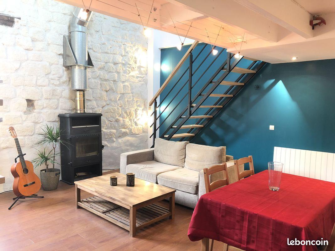 Appartement T3 cosy et atypique style loft de 58m²