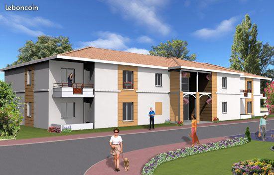 Appartement T2 47 m2 et terrasse