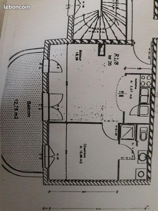 F2 de 36 m2 avec balcon