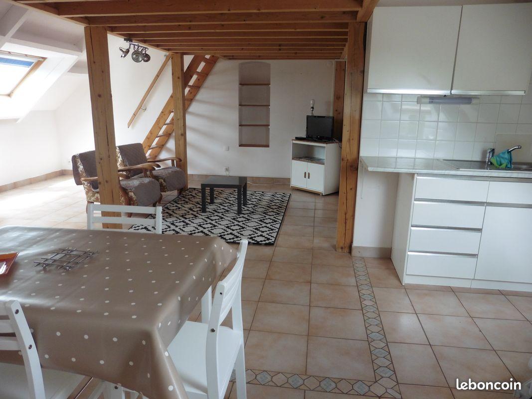 Grand studio 45m² +mezzanine Villers Carbonnel
