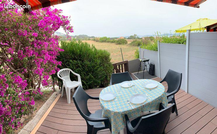 Location étudiante, T2 avec jardin, vue mer et campagne