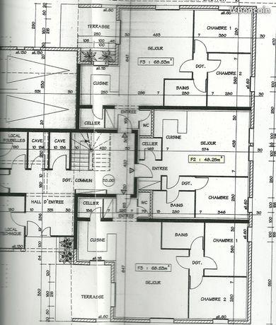 F2 :48 m2 .hettange-grande 57330