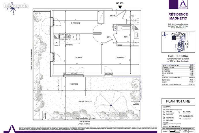 Appartement NEUF T3 - 60m2 Jardin + Terrasse - Livraison fin 2020