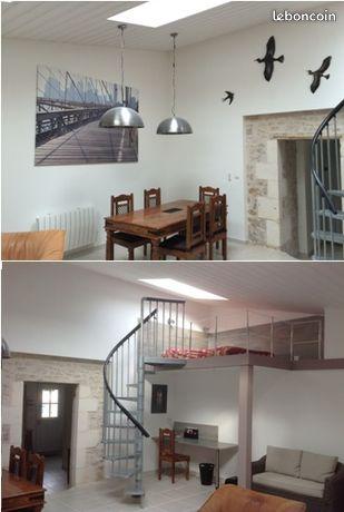 Loft de charme, 70m2, centre L'Houmeau