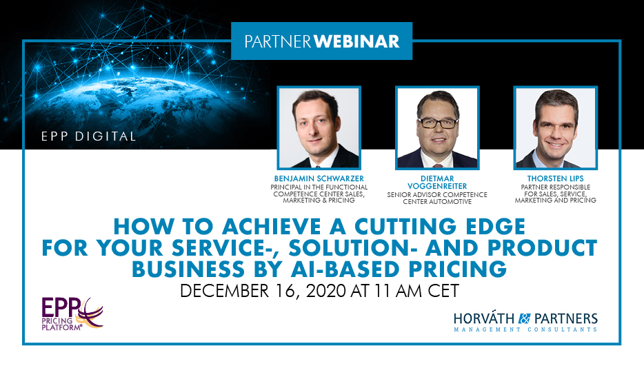 How to achieve a cutting edge for your service-, solution- and product business by AI-based pricing