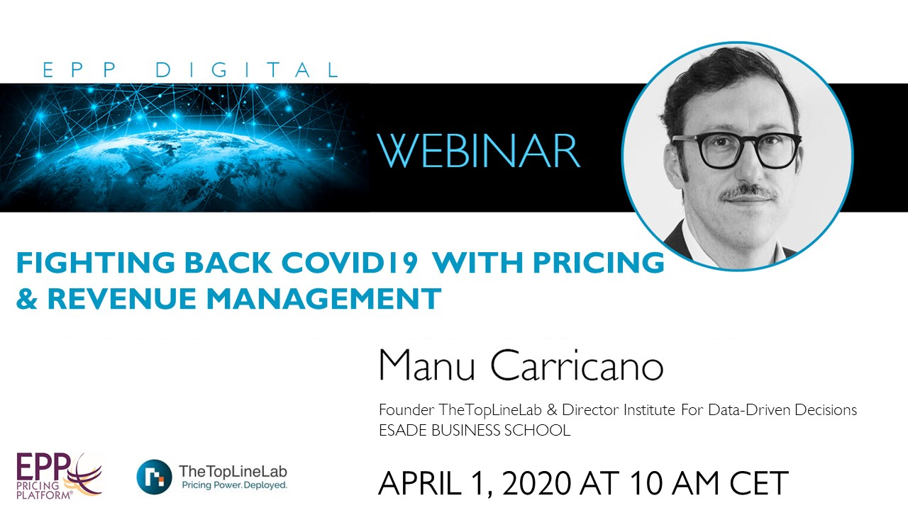 Fighting back COVID19 with Pricing & Revenue Management