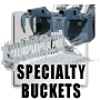 Buckets for backhoes and skidsteers