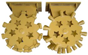 6 in COMPACTION WHEEL FOR SKID STEER/MINI EXCAVATOR - SUI-ME6CW
