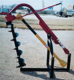 "3-Pt Compact Hole Digger 33"" Depth for13-25 PTO HP Tractor AGM ED32"