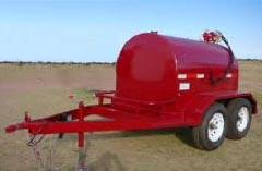 1000 Gallon Side by Side Easy Pump Fuel Tank Trailer HUL 1000 2