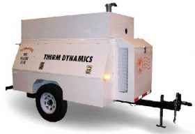 Flameless Sparkless Diesel Heater 1 Million BTU Towable TD1200