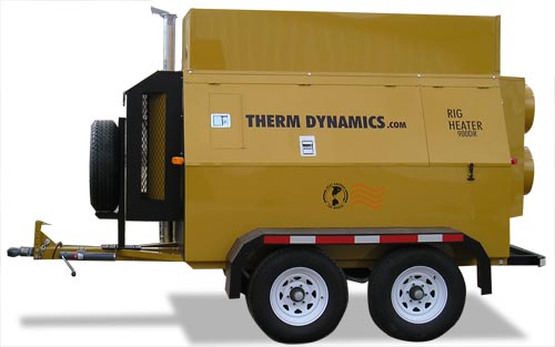 Flameless Sparkless Diesel Heater 1 Million BTU Towable TD1200-400