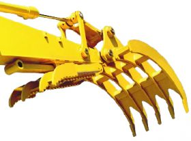Excavator Rake for Machines 19,000 to 29,000 lbs. - SLS-SGR-1.5
