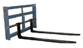 Mini Max Pallet Forks for Small Skid Steers; 2,000 lbs. Capacity; 48 in