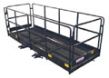 4' x 8' Fork Mounted Work Platform w Collapsible Sides HAU P4x8