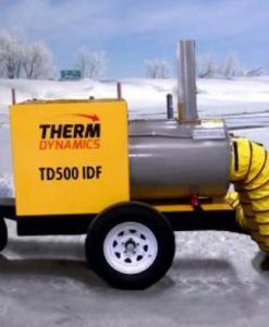 Indirect-Fired Self-Contained Heater Trailer w Generator ​TD500-IDF-HS